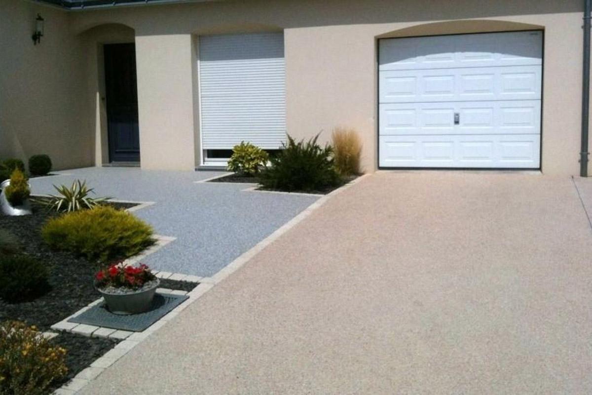 Acceso garaje con hormig n desactivado daniel moquet for Hormigon desactivado